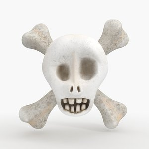 3d cartoon skull model