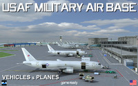 USAF Military Air base Vehicles & Planes