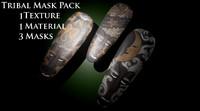 pack african tribal masks fbx