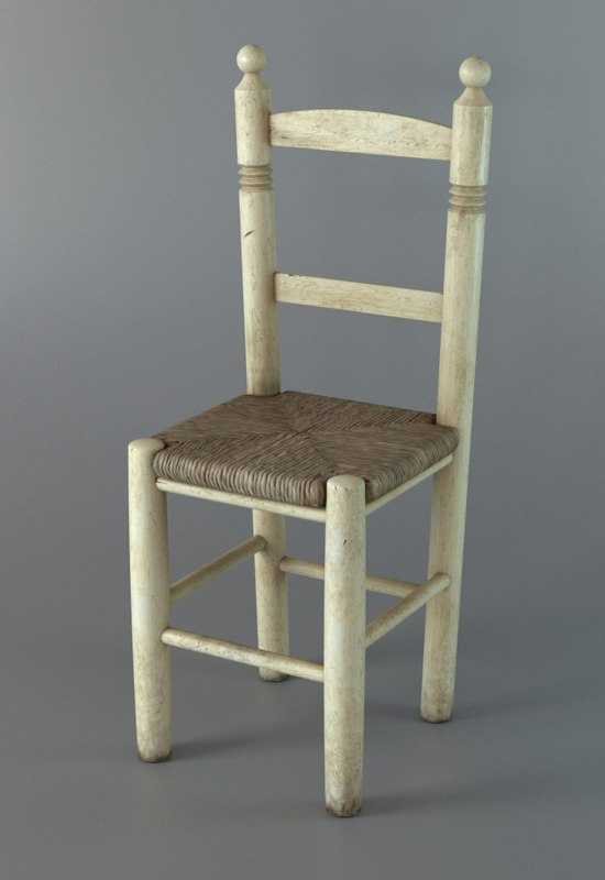 typical enea chair 3d model
