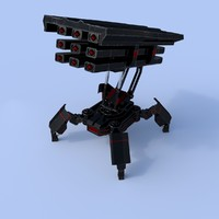 3d fbx walker rocket launcher
