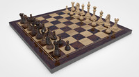 3d chess pieces model