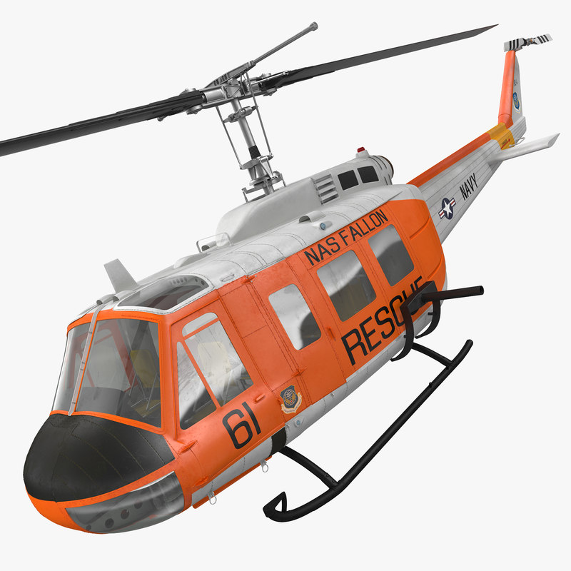 3d model of navy bell uh-1 iroquois