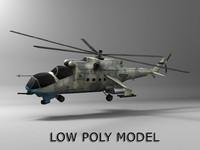 mi-24 hind helicopter obj