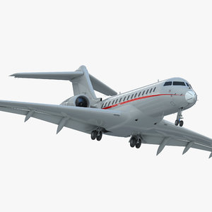 3d model business jet global 6000
