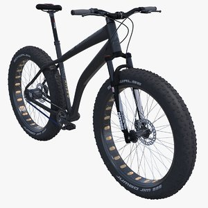 3d fat mountain bicycle model