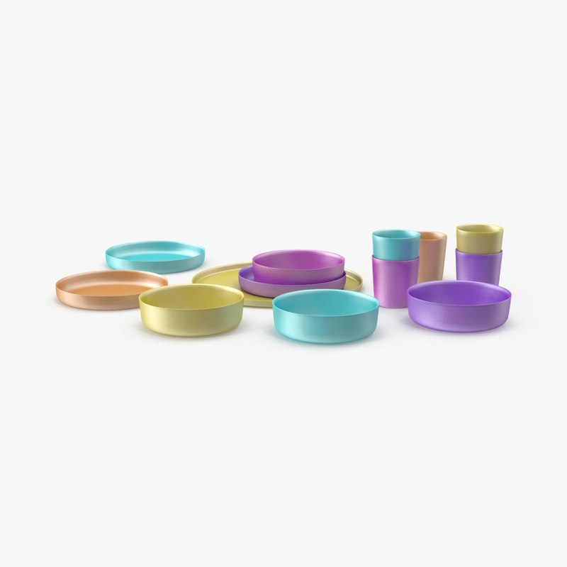 baby-dishware----set-02 3d model