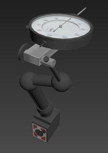 dial indicator 3d max