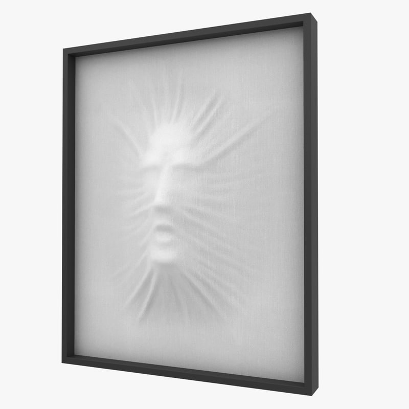 3d model of art object composition face