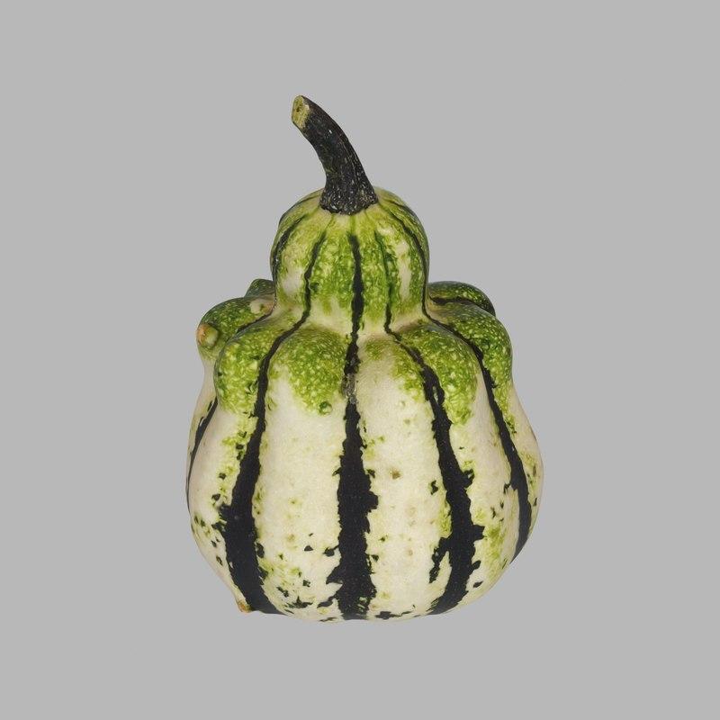 3d model photoreal pumpkin