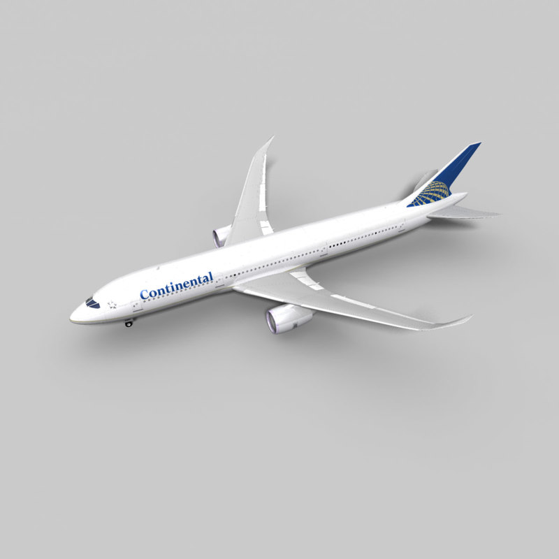 3d model 787 airliner continental