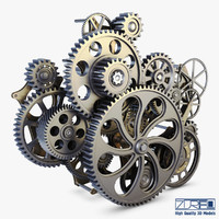 gear mechanism v 1 3d model