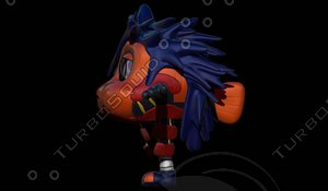 3d cartoon character darwin autchiha model