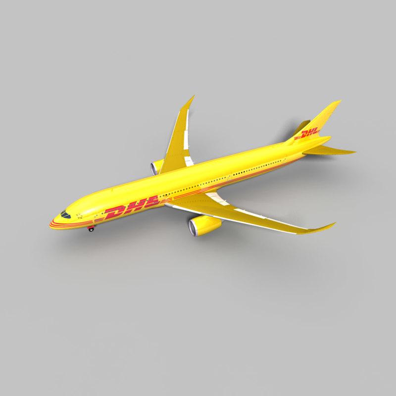 3d model 787 dhl
