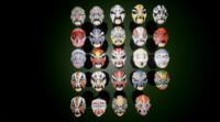 3d model 24 oriental kabuki chinese