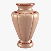 3d model vase marble interior