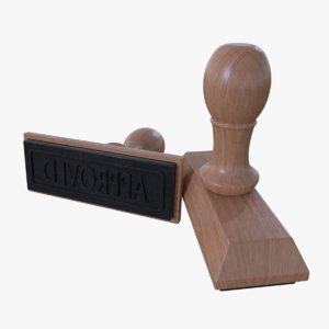 3d model rubber stamp