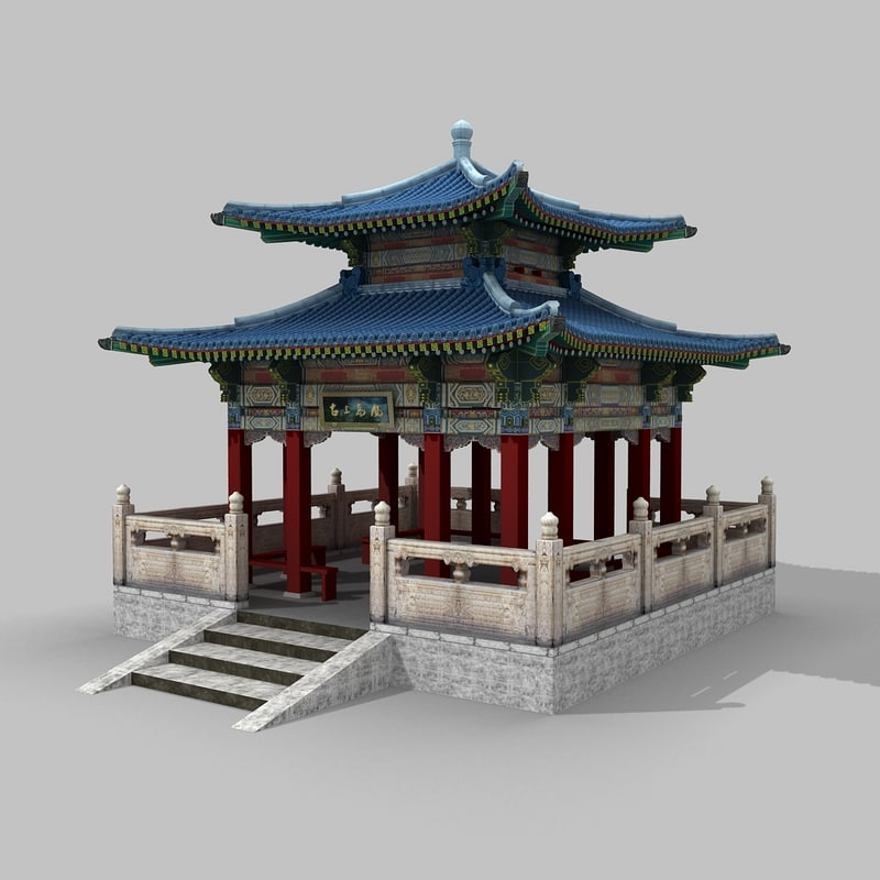 3d traditional chinese building