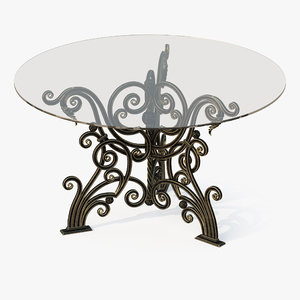 forged table 3d obj