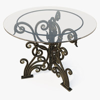 Round Forged Table