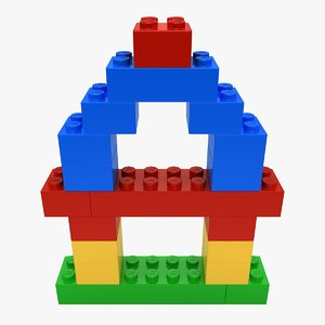 3d max realistic lego bricks shape