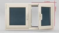 3d window casement plastic