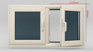 3d window casement plastic