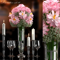 decorative flower vase set 3d max