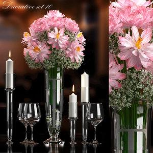 decorative flower vase set 3d max