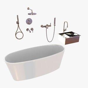 plumbing fixtures 3d model