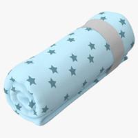 baby blankets 02 3d c4d