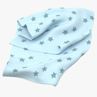 3d model baby blankets 02 03