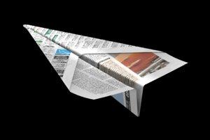 3d model paper airplane plane