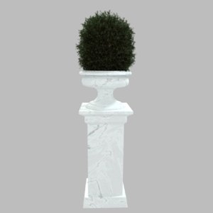 planter plant pillar 3d obj