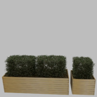 3d planter wood wooden