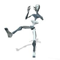 Player foot kick push attack