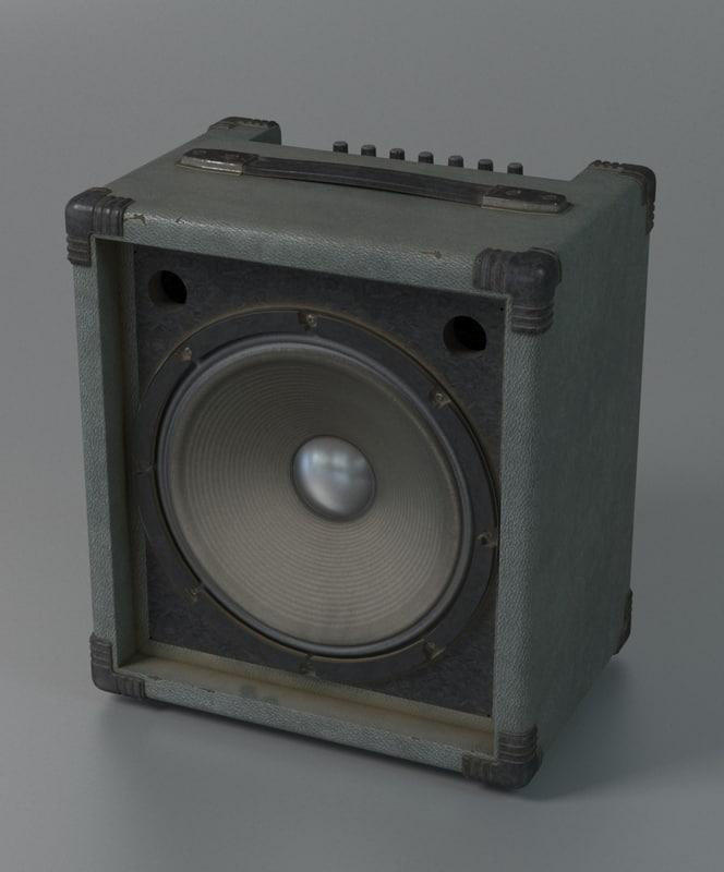 3d amplifier guitar model