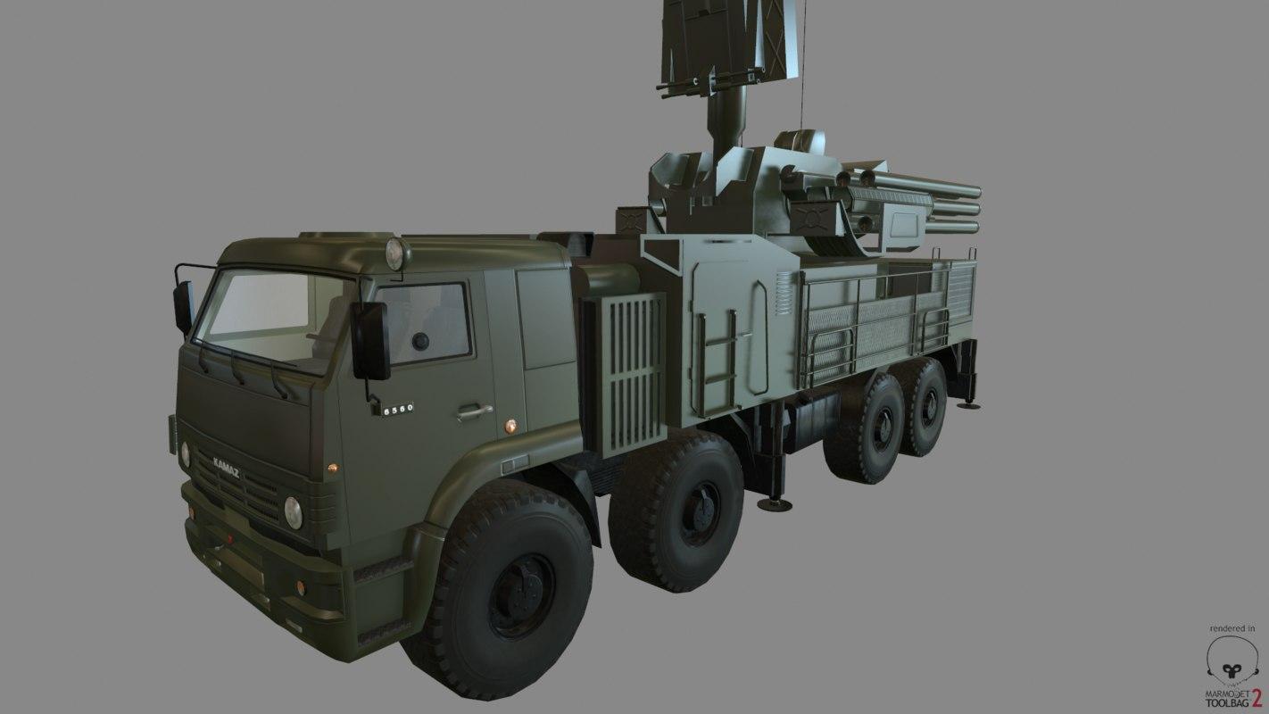 3d model pantsir-s1 artillery