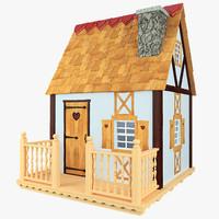 3d snow white house