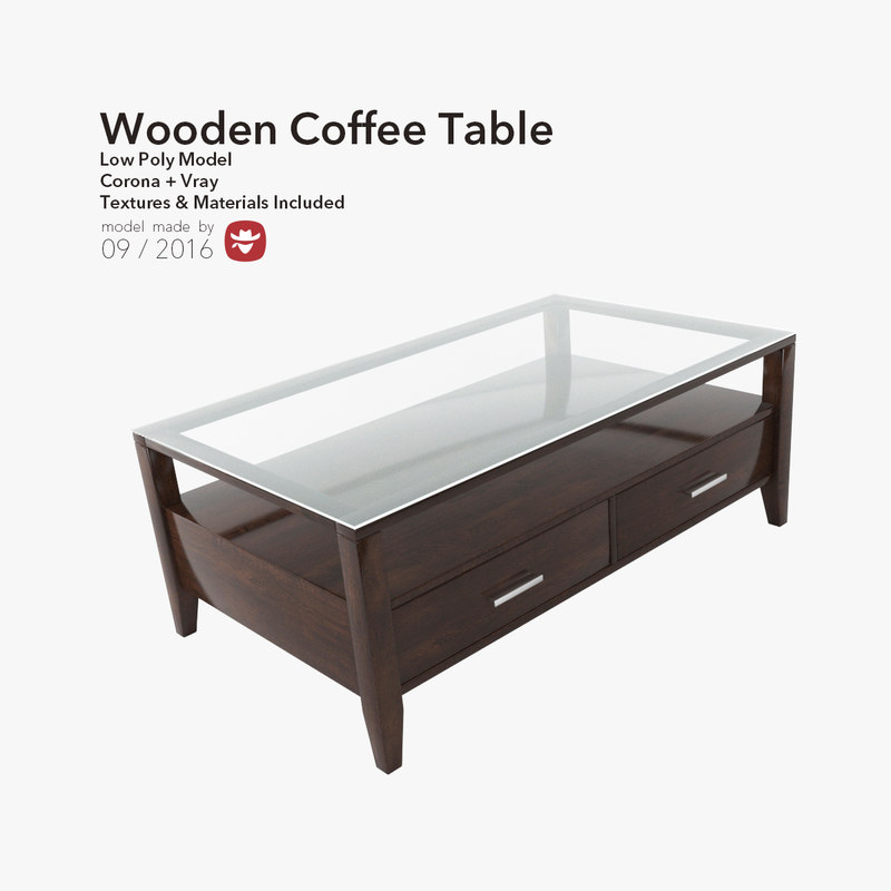 coffee table wood 3d max