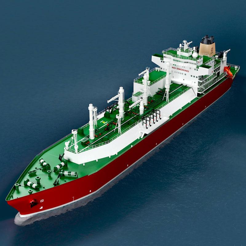 lng carrier tanker mozah 3d max