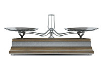 3d model vintage balance scale