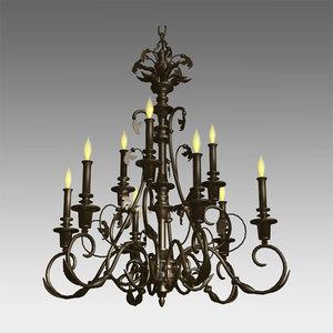 classic chandelier 3d model