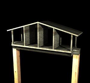 3d monkey house model