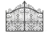 Ornate Cast Iron Gates