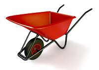 gardeners wheelbarrow 3d model