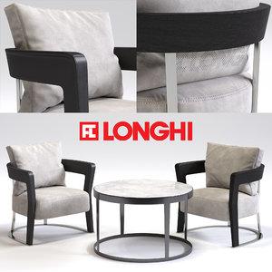 fratelli longhi agatha armchair 3d max