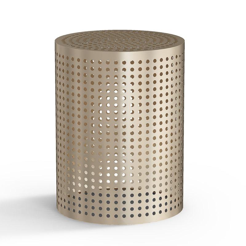 3d model precision table kelly wearstler