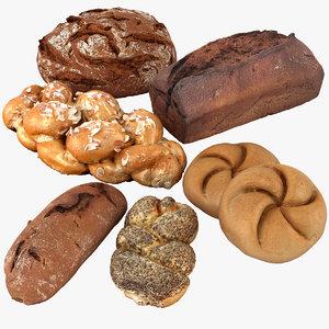 bread loaf bun 3d max