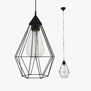 3d hexagonal wire light model